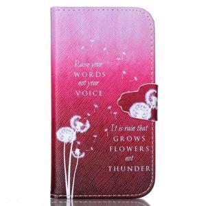 Emotive knížkové puzdro pre Samsung Galaxy S4 - púpavy - 1