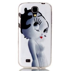 Softy gelový obal na mobil Samsung Galaxy S4 - kočička - 1
