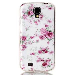 Softy gélový obal pre mobil Samsung Galaxy S4 - kvety - 1