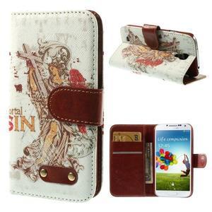 Elegant peňaženkové puzdro pre Samsung Galaxy S4 - mortal - 1