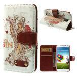 Elegant peňaženkové puzdro pre Samsung Galaxy S4 - mortal - 1/7
