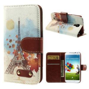 Elegant peňaženkové puzdro pre Samsung Galaxy S4 - Eiffelova veža - 1