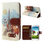 Elegant peňaženkové puzdro pre Samsung Galaxy S4 - Eiffelova veža - 1/7