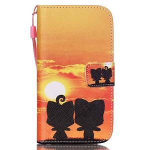 Knížkové koženkové puzdro pre Samsung Galaxy S4 - sunrise - 1
