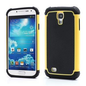 Outdoor odolný silikonový obal na Samsung Galaxy S4 - žlutý - 1