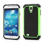 Outdoor odolný silikonový obal pre Samsung Galaxy S4 - zelený - 1/5