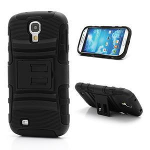 Odolný ochranný silikonový kryt na Samsung Galaxy S4 - černý - 1