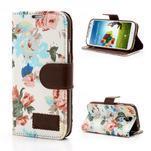 Kvetinové puzdro pre mobil Samsung Galaxy S4 - biele pozadie - 1/7
