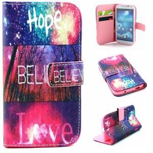 Standy peňaženkové puzdro pre Samsung Galaxy S4 - believe - 1