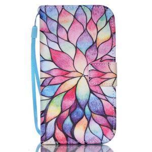 Diary peňaženkové puzdro pre mobil Samsung Galaxy S4 mini - farebné lístky - 1