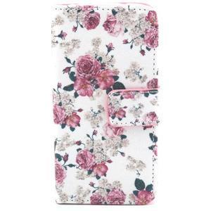 Puzdro pre mobil Samsung Galaxy S4 mini - kvety - 1