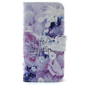 Diaryleather pouzdro na mobil Samsung Galaxy S4 mini - beatiful - 1