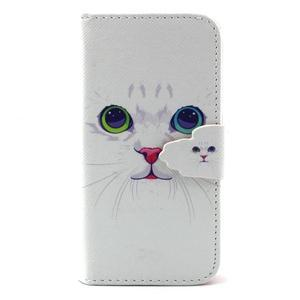 Diaryleather pouzdro na mobil Samsung Galaxy S4 mini - kočička - 1