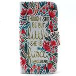Diaryleather puzdro pre mobil Samsung Galaxy S4 mini - Shakespeare - 1/7