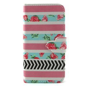 Diaryleather pouzdro na mobil Samsung Galaxy S4 mini - růže - 1