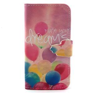 Diaryleather pouzdro na mobil Samsung Galaxy S4 mini - balónky - 1