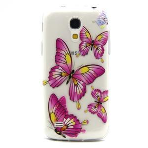 Transparentný gélový obal pre Samsung Galaxy S4 mini - motýle - 1