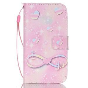 Diary peněženkové pouzdro na mobil Samsung Galaxy S4 mini - láska - 1