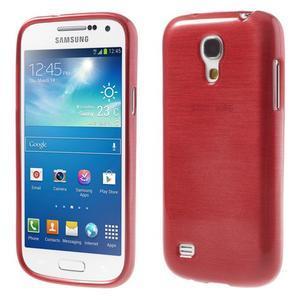 Brushed gélový obal pre mobil Samsung Galaxy S4 mini - červený - 1