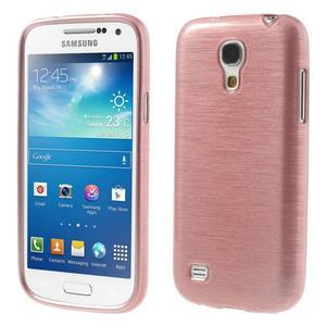 Brushed gelový obal na mobil Samsung Galaxy S4 mini - růžový - 1