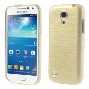 Brushed gélový obal pre mobil Samsung Galaxy S4 mini - zlatý - 1