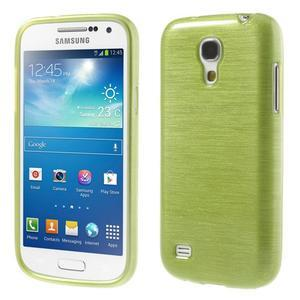 Brushed gelový obal na mobil Samsung Galaxy S4 mini - zelený - 1