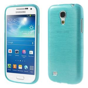 Brushed gélový obal pre mobil Samsung Galaxy S4 mini - modrý - 1