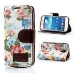 Květinkové pouzdro na mobil Samsung Galaxy S4 mini - bílé pozadí - 1/6