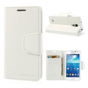 Sonata PU kožené pouzdro na mobil Samsung Galaxy S4 mini - bílé - 1