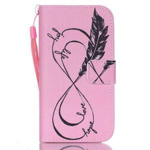 Diary peňaženkové puzdro pre mobil Samsung Galaxy S4 mini - love - 1