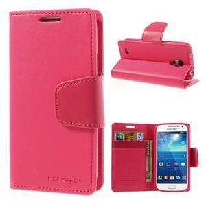 Sonata PU kožené pouzdro na mobil Samsung Galaxy S4 mini - rose - 1