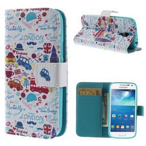 Style peňaženkové puzdro pre Samsung Galaxy S4 mini - Londýn - 1