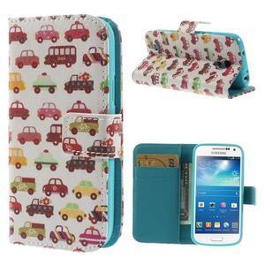 Style peňaženkové puzdro pre Samsung Galaxy S4 mini - autíčka - 1