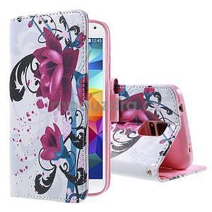 Ochranné puzdro pre mobil Samsung Galaxy S5 - kvety - 1