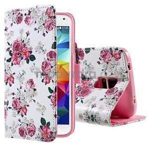 Ochranné puzdro pre mobil Samsung Galaxy S5 - kvetinová koláž - 1