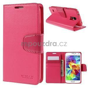 Elegantní peněženkové pouzdro na Samsung Galaxy S5 - rose - 1