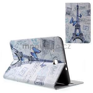 Ochranné koženkové puzdro na Samsung Galaxy Tab E 9.6 - Eiffelova veža - 1