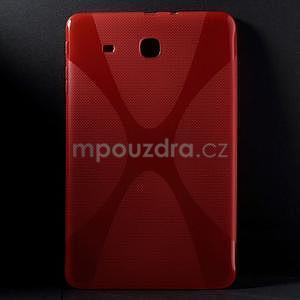 X-line gélové puzdro pre tablet Samsung Galaxy Tab E 9.6 - červené - 1