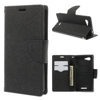 Richmercury puzdro pre mobil Sony Xperia E3 - čierne - 1/7