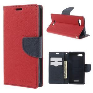Richmercury puzdro pre mobil Sony Xperia E3 - červené - 1