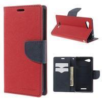 Richmercury puzdro pre mobil Sony Xperia E3 - červené - 1/7