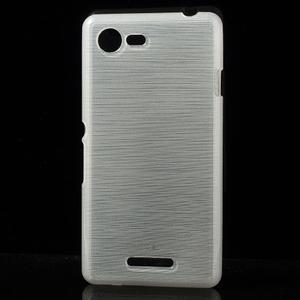 Brushed gélový obal pre mobil Sony Xperia E3 - biely - 1