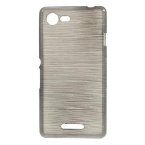 Brushed gélový obal pre mobil Sony Xperia E3 - sivý - 1