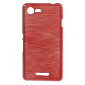 Brushed gélový obal pre mobil Sony Xperia E3 - červený - 1