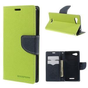 Richmercury puzdro pre mobil Sony Xperia E3 - zelené - 1
