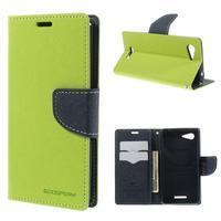Richmercury puzdro pre mobil Sony Xperia E3 - zelené - 1/7