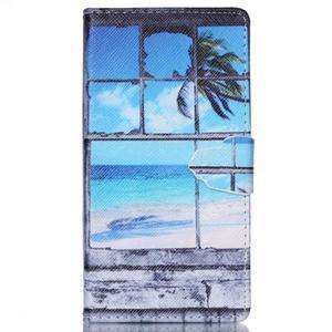 Emotive puzdro pre mobil Sony Xperia M4 Aqua - plážová scenérie - 1