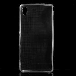 Ultratenký slim gelový obal na mobil Sony Xperia M4 Aqua - transparentní - 1