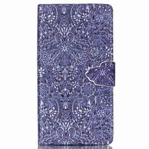 Emotive pouzdro na mobil Sony Xperia M4 Aqua - retro květy - 1