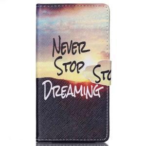 Emotive pouzdro na mobil Sony Xperia M4 Aqua - nepřestávej snít - 1